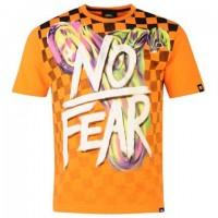 Triko No Fear Orange Checker