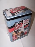 Plechová dóza Best Garage