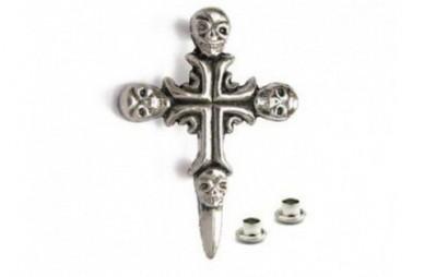 Zdobení - Kříž s lebkami