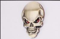Zdobení - 3D Lebka gold