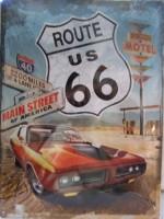 Plechová cedule Route 66 Main Street