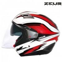 Přilba ZEUS ZS-611 bílo/červená